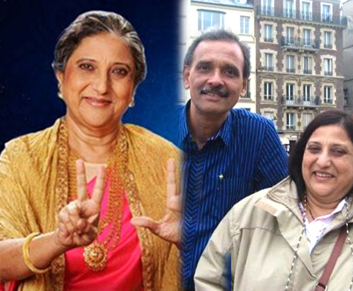 actress meenal paranjpe with husband
