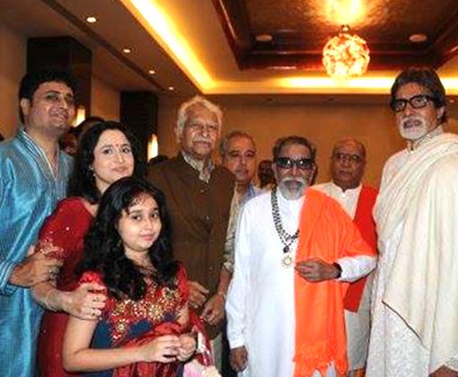 deulkar family with ramesh dev balasaheb thakre and amitabh bachchan