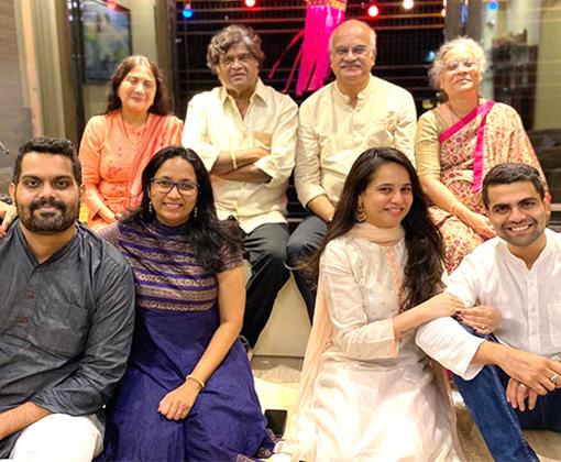 family of ashok and nivedita saraf