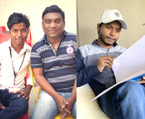 siddhesh lingayat with superstar bhau kadam