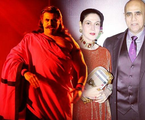 raavan role of puneet issar with wife deepali