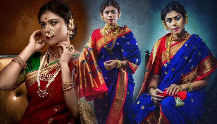 ashwini mahangade vintage marathi women style