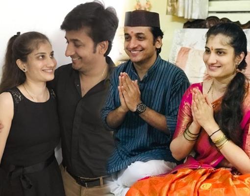 sankarshan with wife shalaka