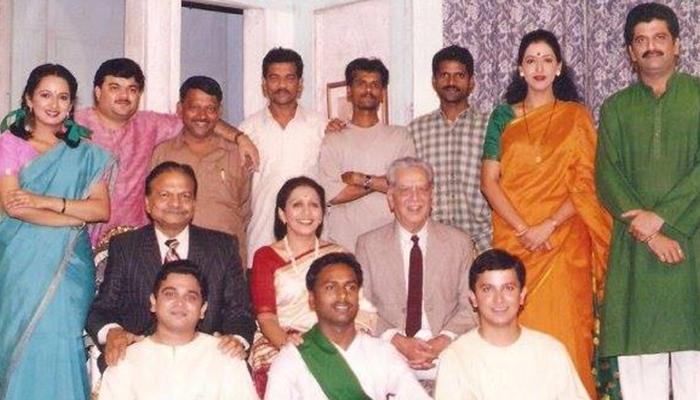prashant damle patvardhan kaka with various actors and shriram lagoo